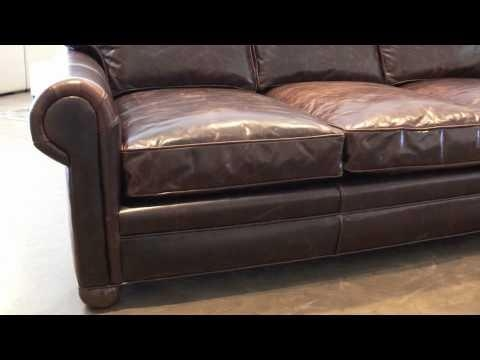 Langston Leather Sofa From Leathergroups – Youtube Regarding Brompton Leather Sofas (Image 13 of 20)