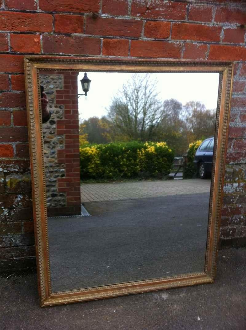 Large 19Th Century Antique French Carved Wood Framed Mirror Can Be Intended For Antique Mirrors Large (Image 10 of 20)