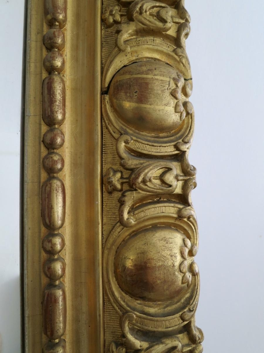 Large Antique French Gold Gilt Mirror For Sale At Pamono Inside Antique Gilt Mirror (Image 17 of 20)