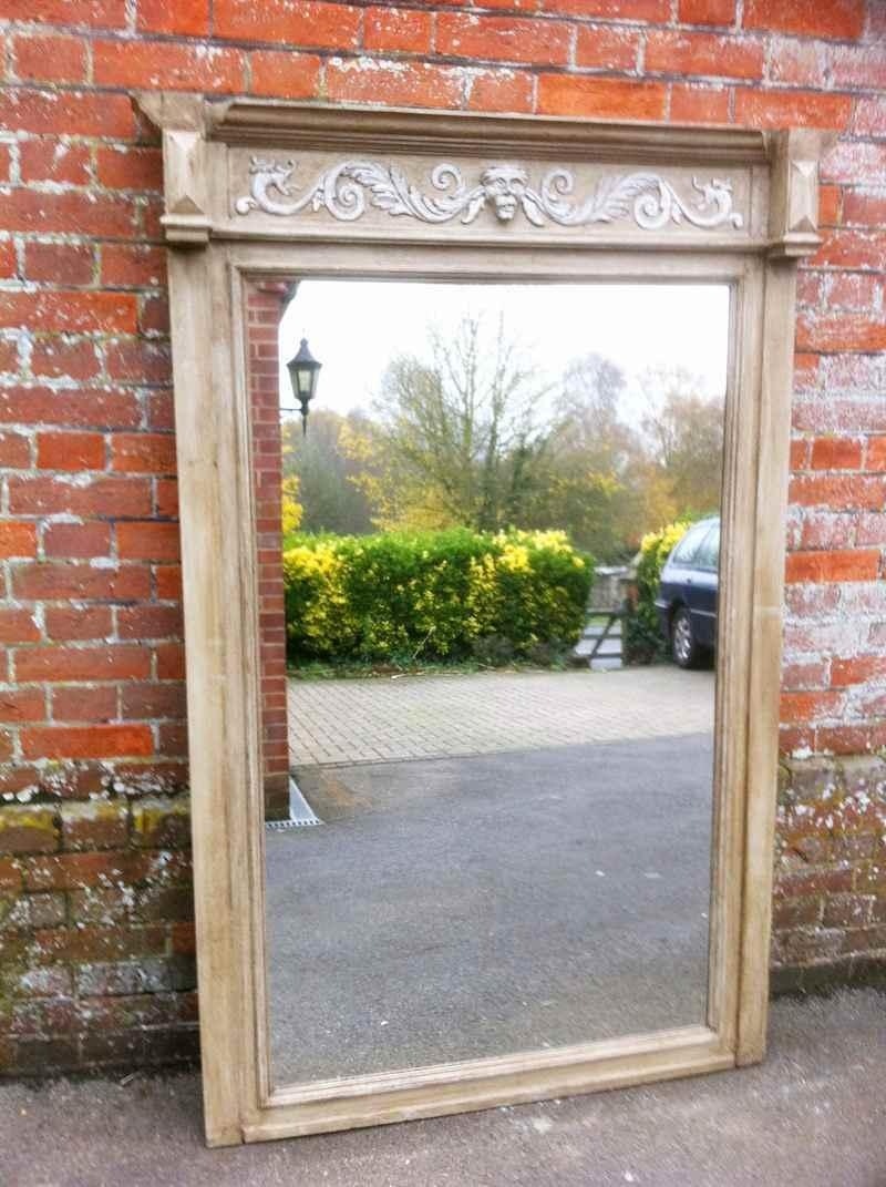 Large Antique Oak Wall Mirror – Antique All Our Antique Mirrors Inside Antique Mirrors For Sale (View 9 of 16)
