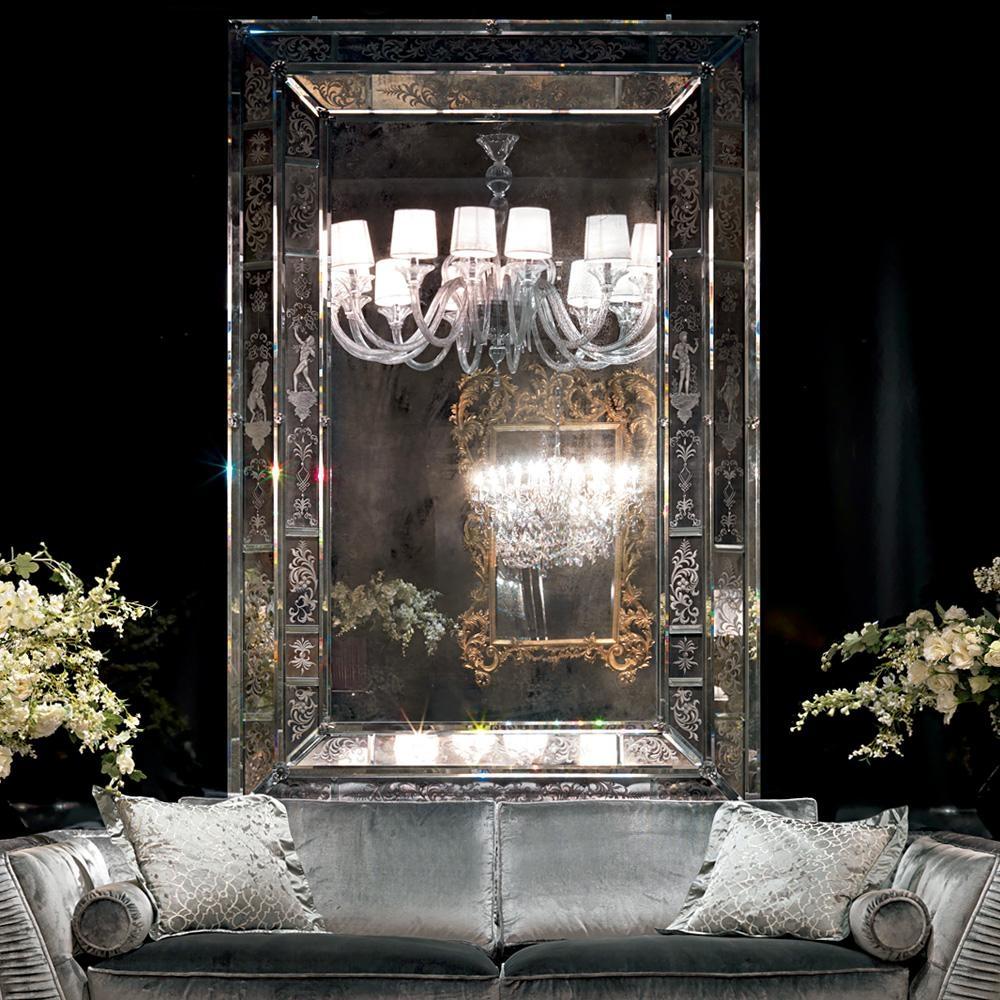 Large Antique Style Venetian Mirror | Juliettes Interiors Regarding Large Venetian Mirrors (Image 8 of 20)