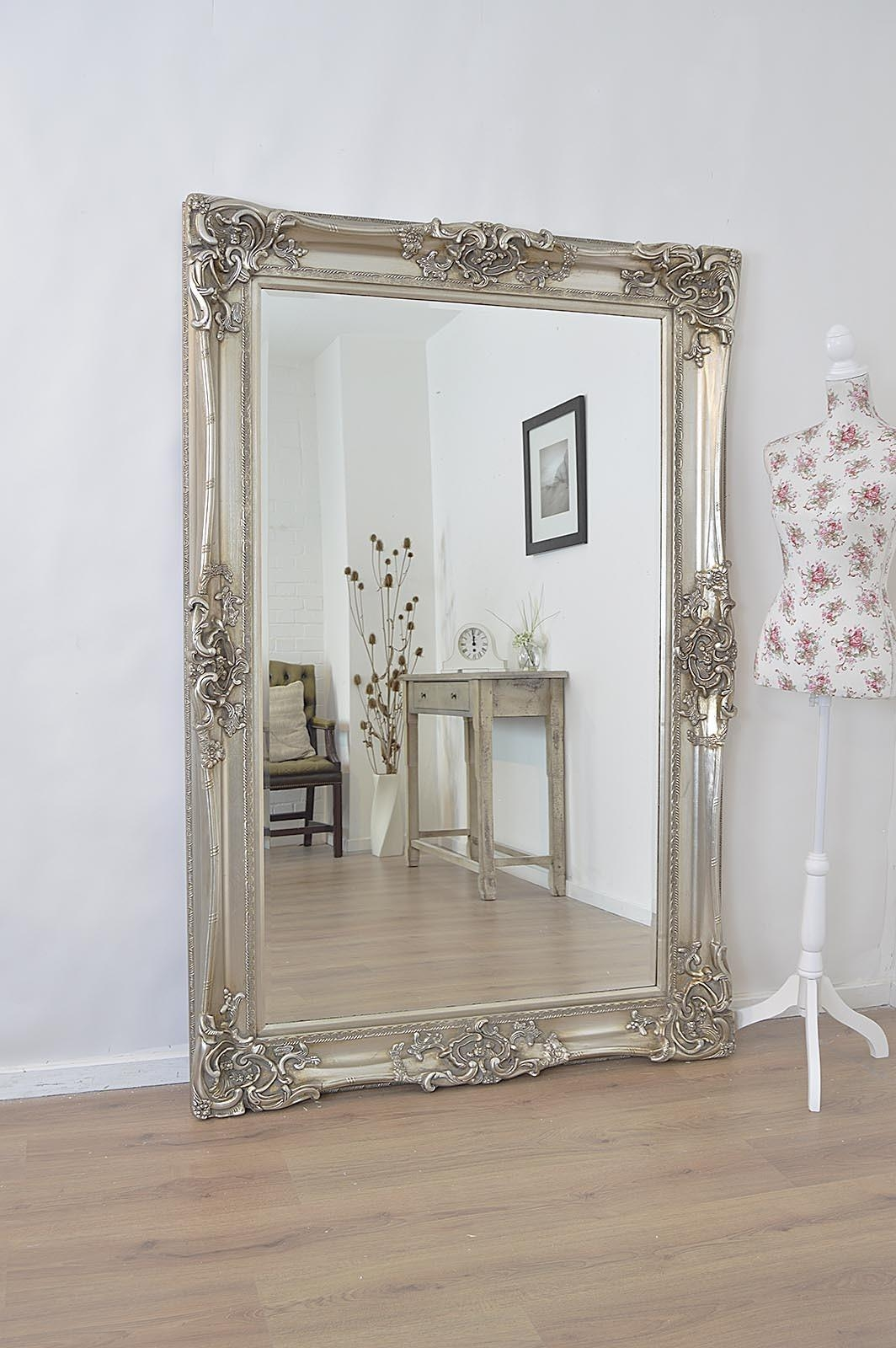 Large Antique Wall Mirror Ornate Frame Antique Ornate Wall Mirrors Pertaining To Antique Long Mirror (Image 17 of 20)