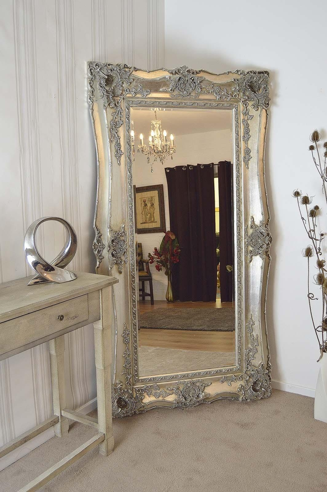 Large Antique Wall Mirror Ornate Frame Antique Ornate Wall Mirrors Regarding Antique Full Length Wall Mirror (View 3 of 20)