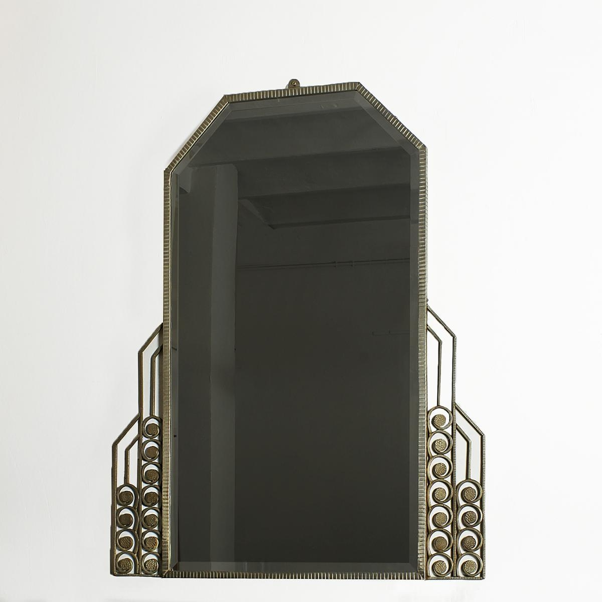 Large Art Deco Mirror, 1930S For Sale At Pamono Intended For Art Deco Large Mirror (Image 16 of 20)