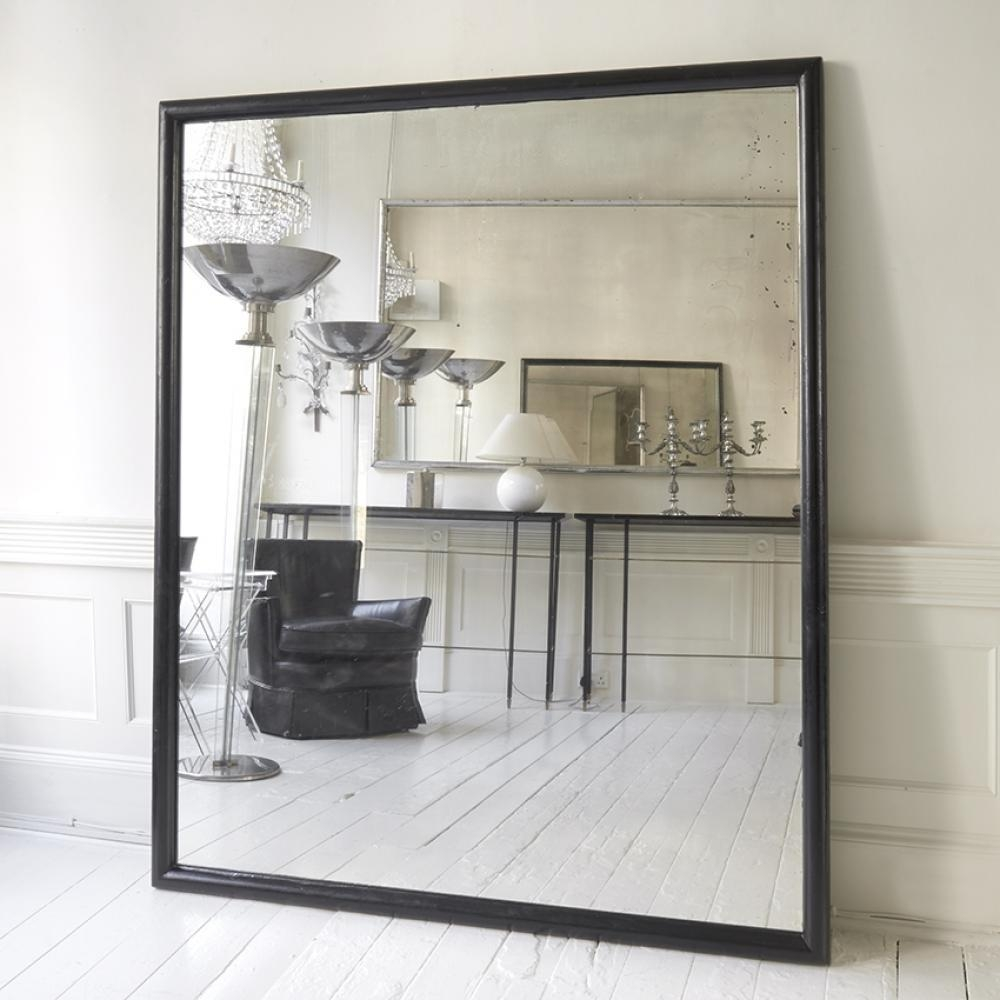 Large Black Framed Ballet School Mirror In Mirrors Within Large Black Mirror (Image 12 of 20)