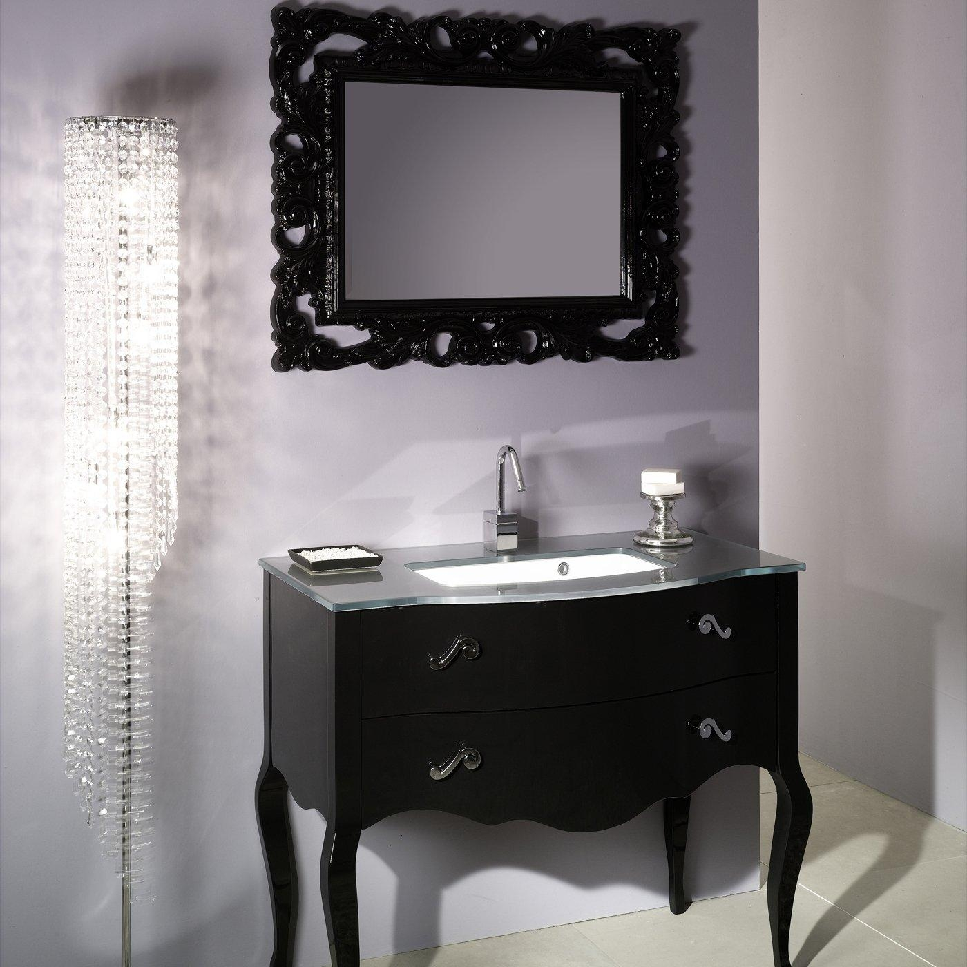 Large Black Framed Wall Mirror 122 Beautiful Decoration Also Large Within Black Shabby Chic Mirror (Image 15 of 20)