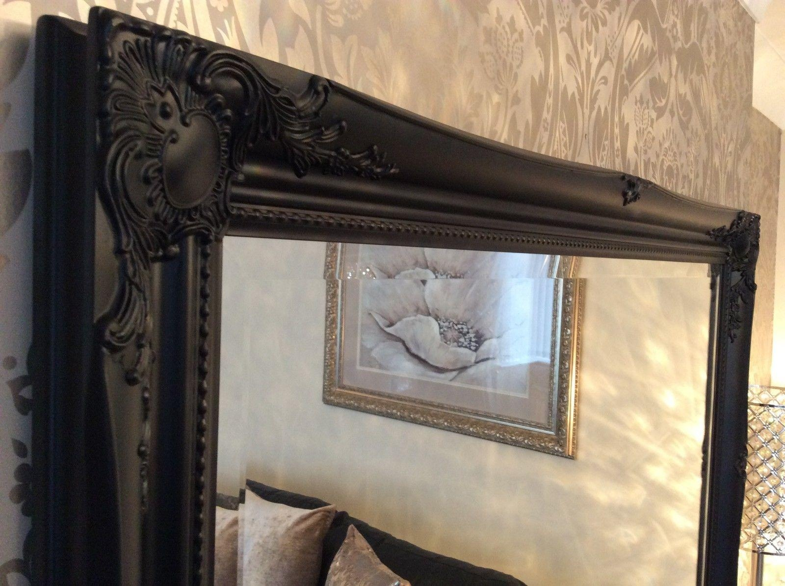 Large Black Framed Wall Mirror – Harpsounds (Image 12 of 20)