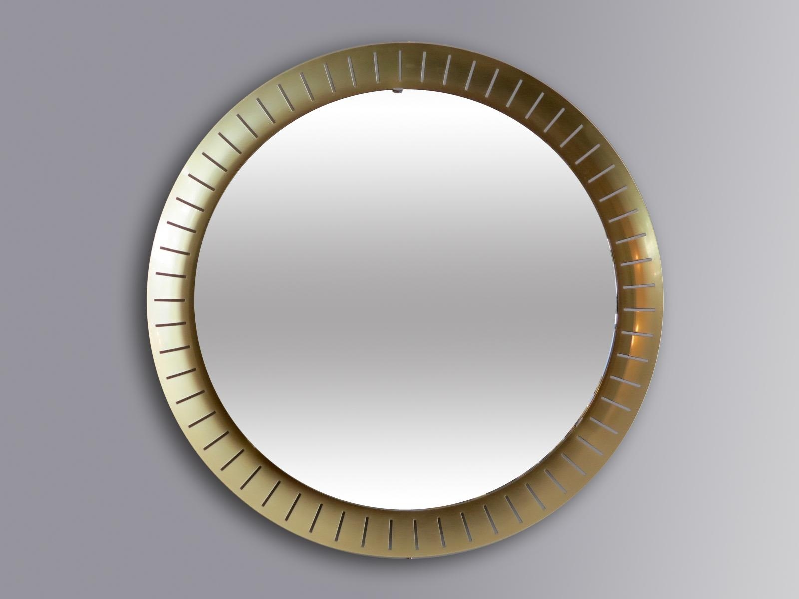 Large Circular Mirrors From Stilnovo, 1971, Set Of 2 For Sale At Intended For Large Circular Mirror (Image 7 of 20)
