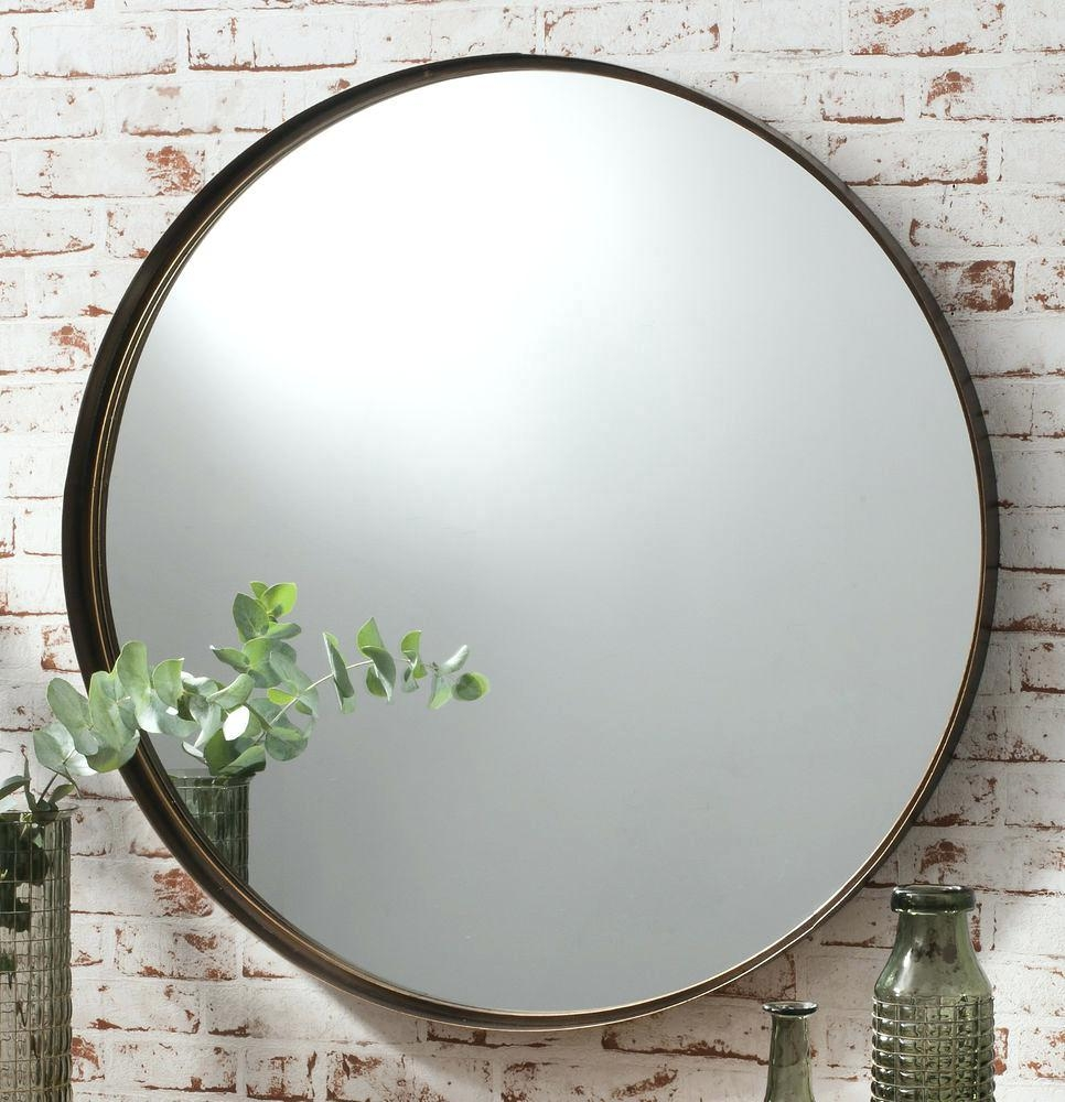 Large Contemporary Gold Vine Round Mirrorlarge Mirror Uk Frame Within Large Round Gold Mirror (Image 6 of 20)