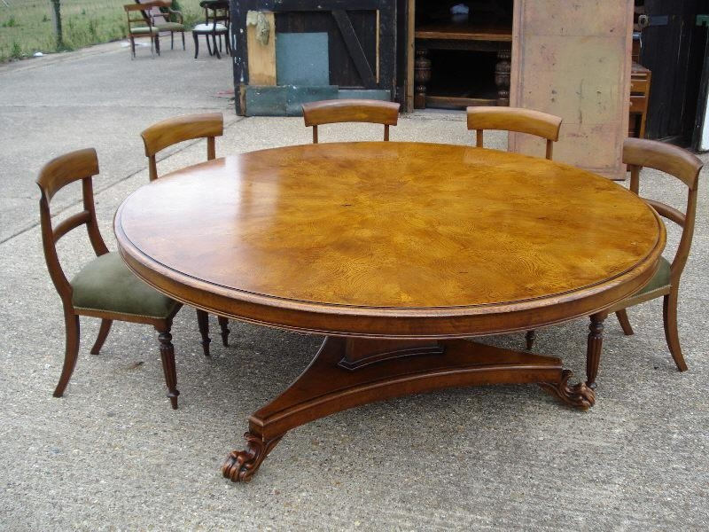 Large Dining Table Large Oak Table Huge Dining Table 14 Seater With Regard To Huge Round Dining Tables (Image 16 of 20)