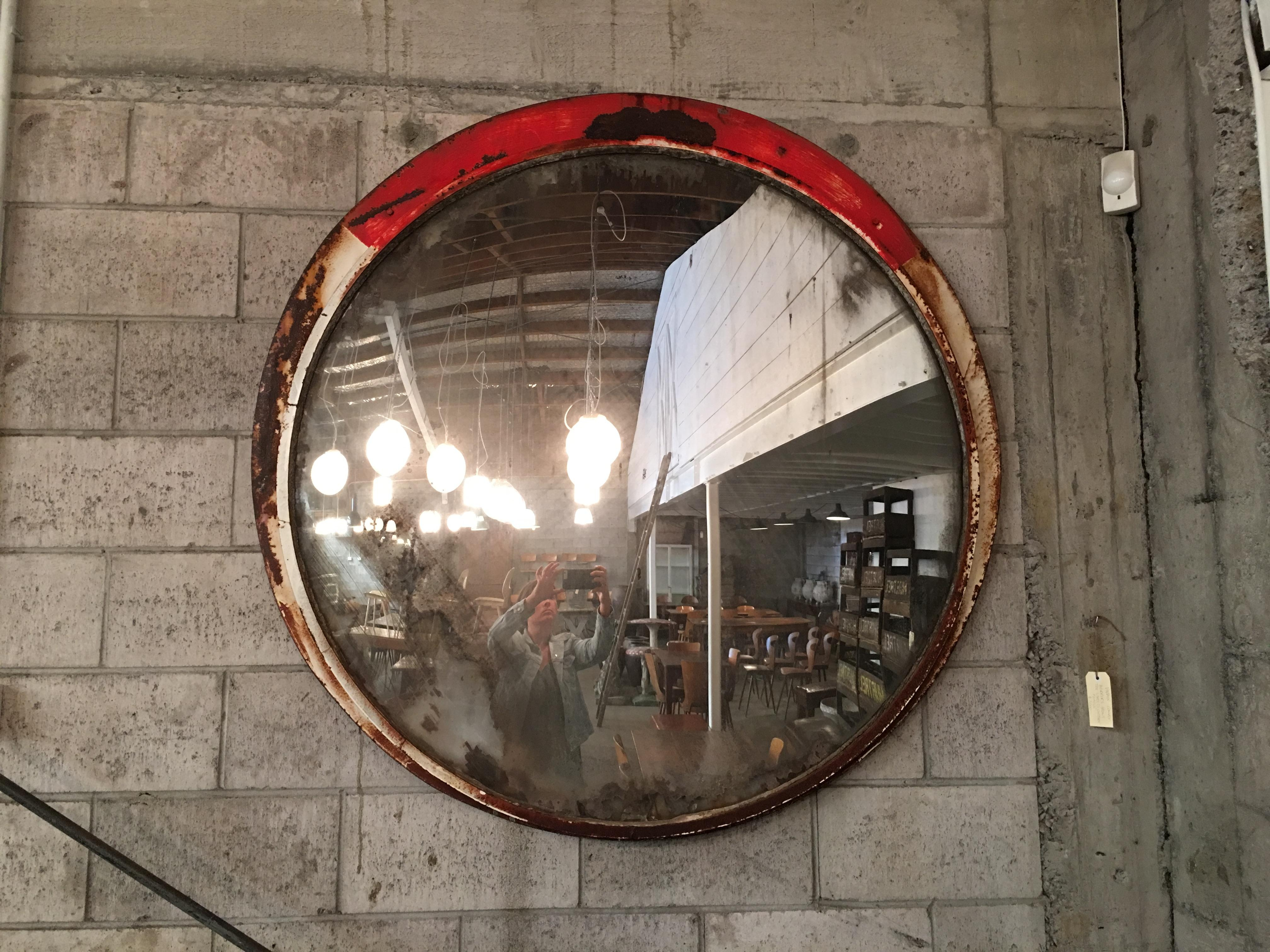 Large Drapers Table In Sold | Vitrine Intended For Large Bubble Mirror (Image 14 of 20)