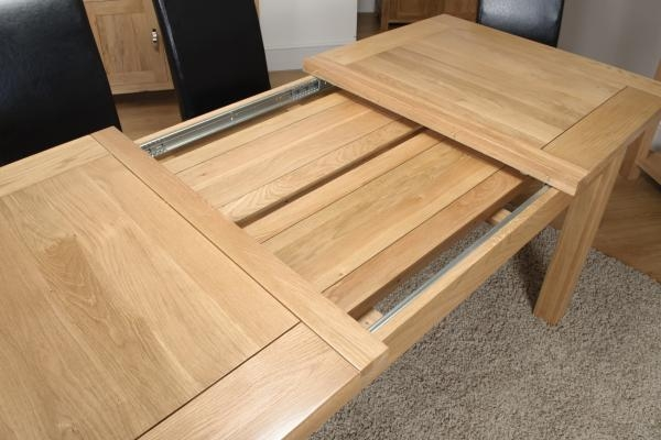 Large Extending Oak Dining Table – Living Room Decoration Regarding Extending Oak Dining Tables (Image 13 of 20)