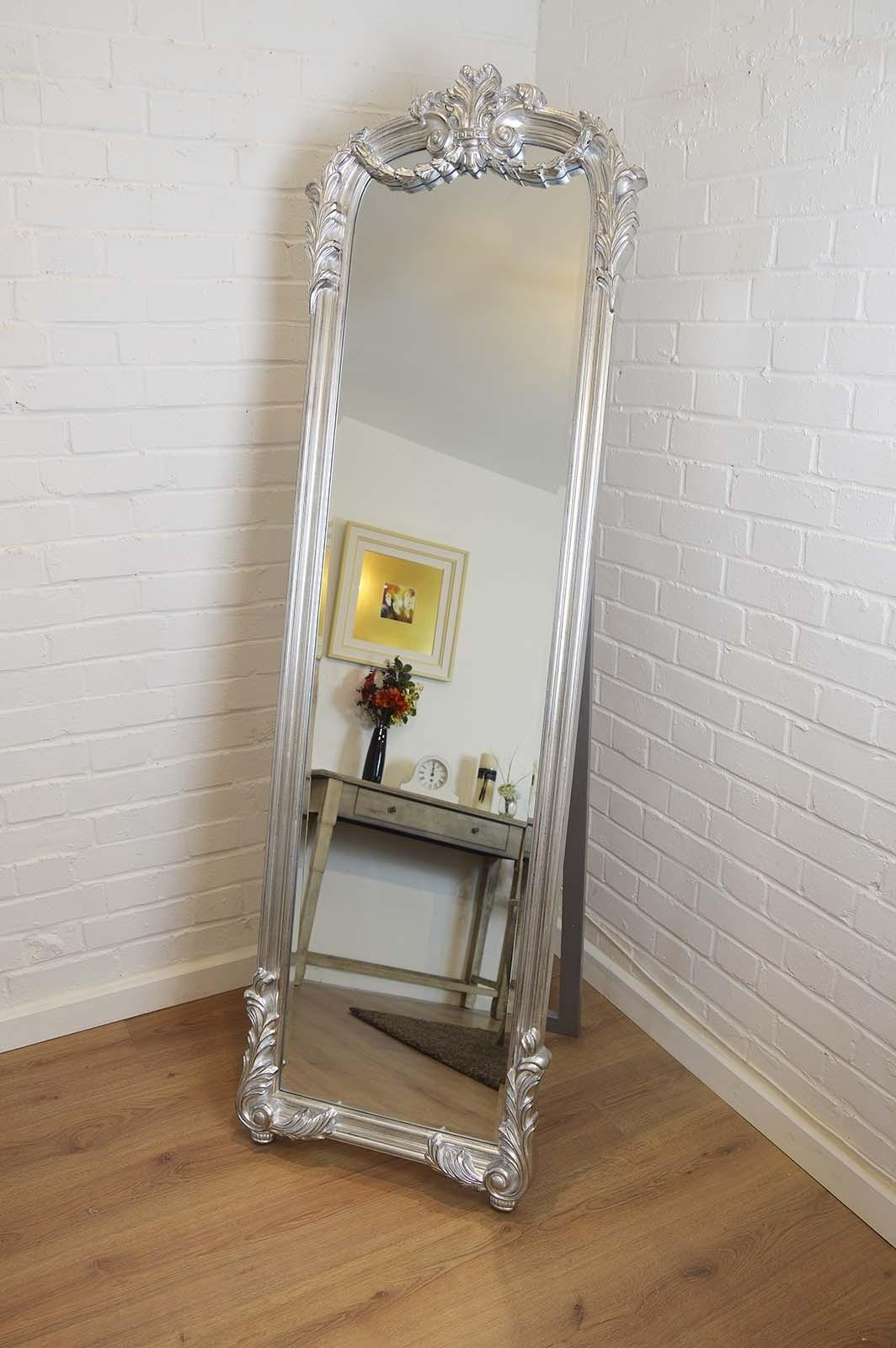 Featured Image of Silver Free Standing Mirror
