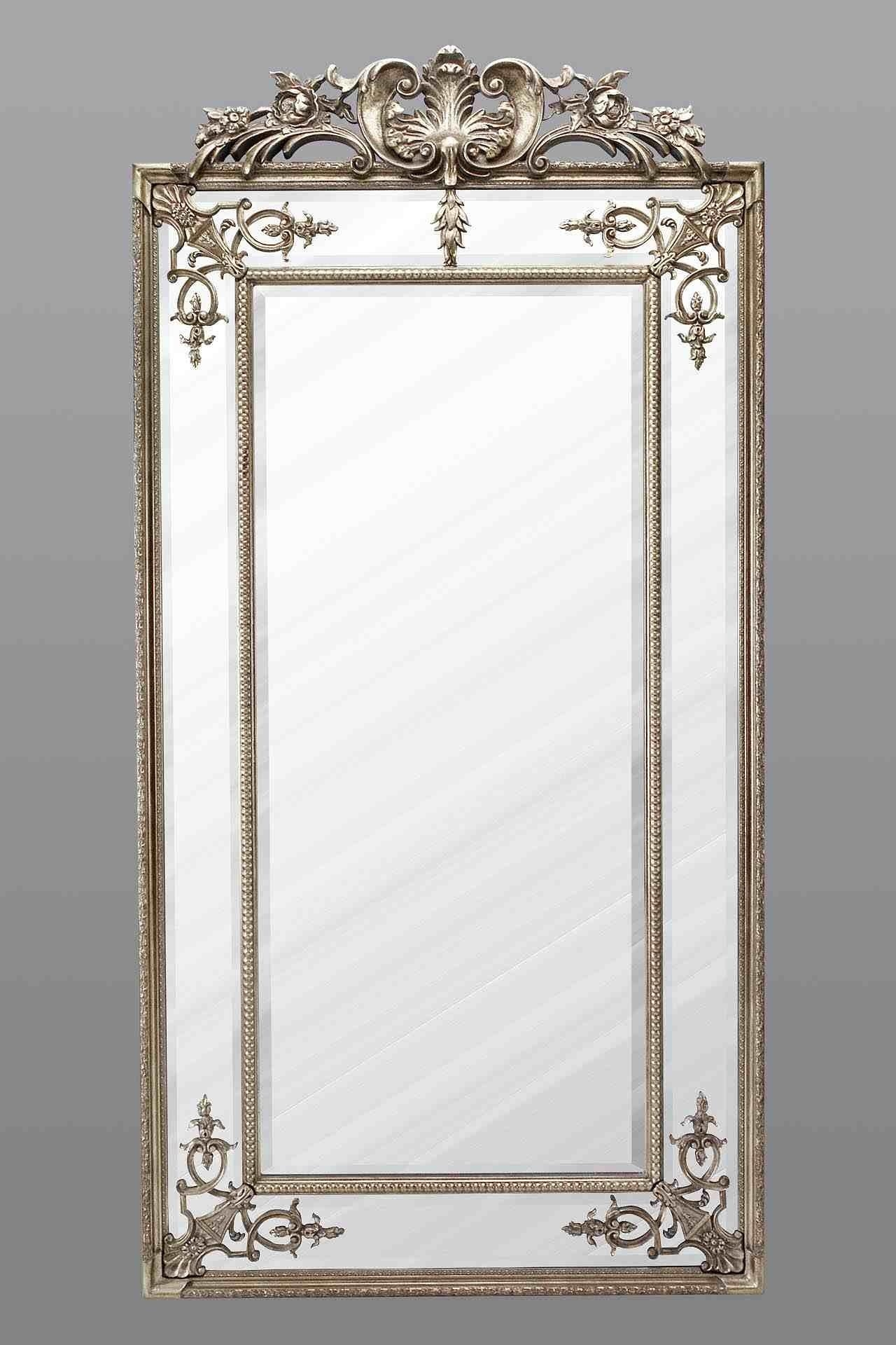 Large Full Length Mirror – Silver In Silver Long Mirror (Image 10 of 20)