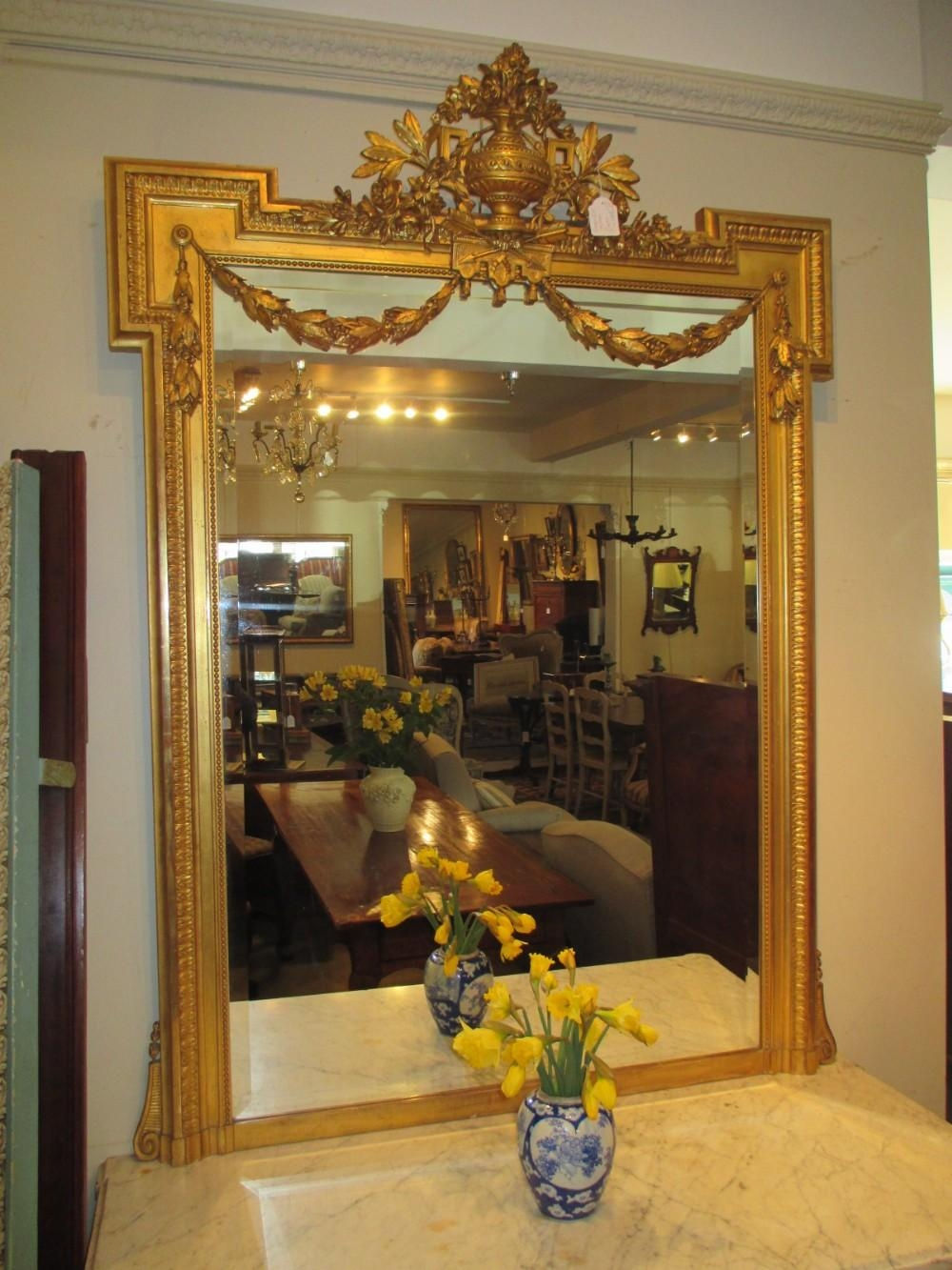 Large Gilt Mirror | 268455 | Sellingantiques.co (Image 9 of 20)