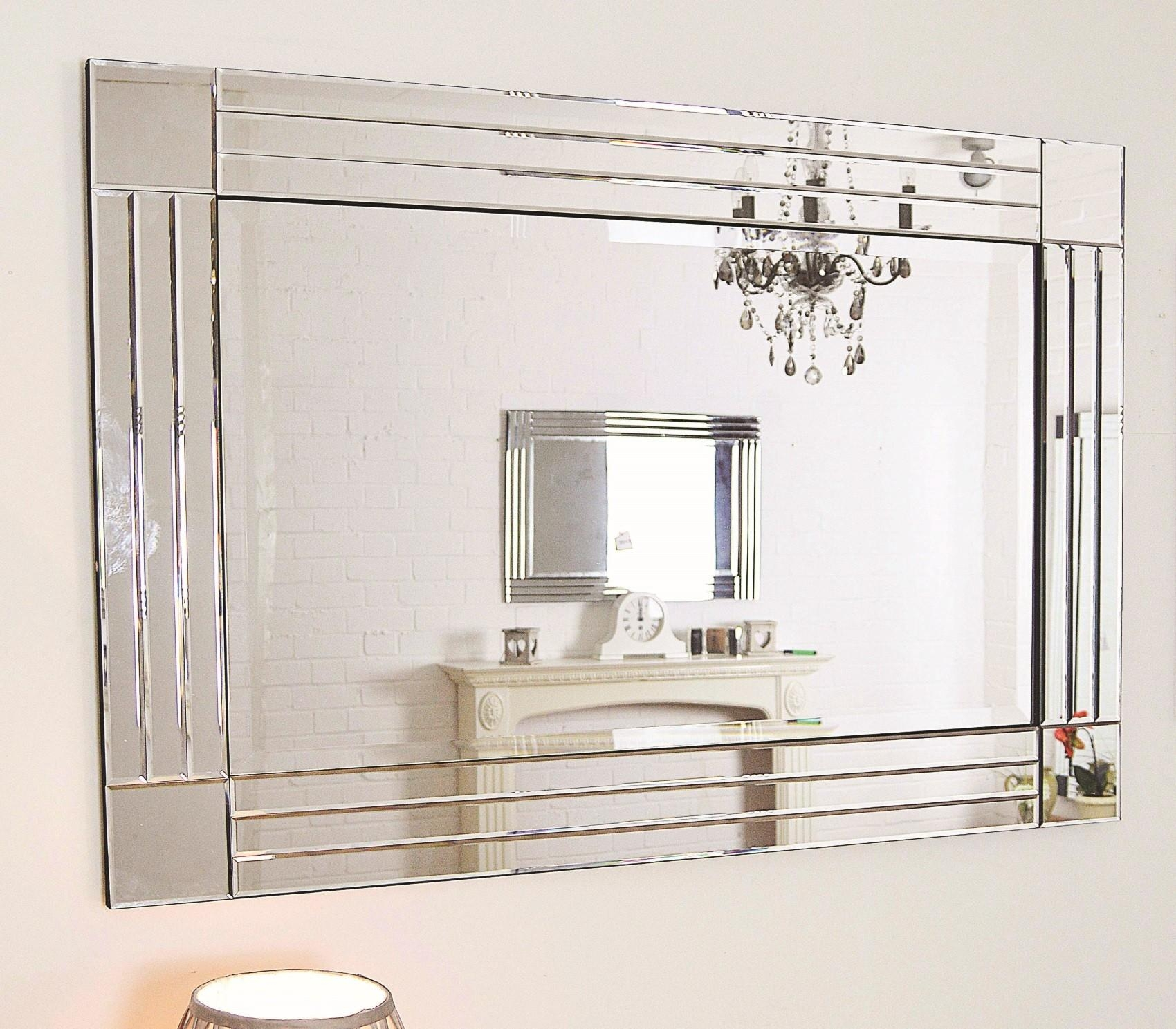 Large Glass Bevelled Wall Mirror – Harpsounds (Image 14 of 20)