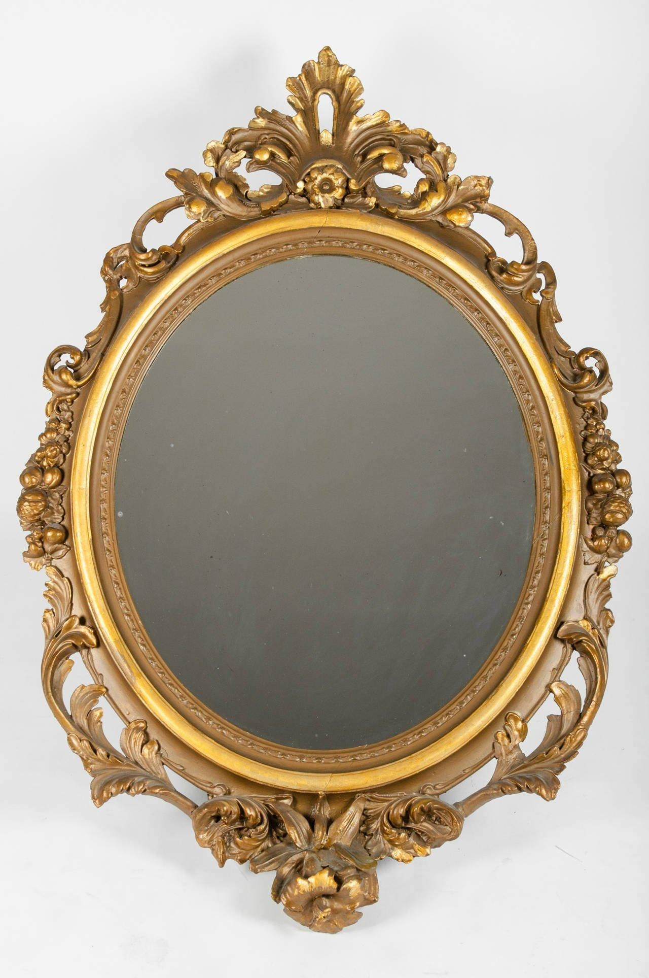Large Gold Gilt Gesso Mirror For Sale At 1Stdibs Inside Gilt Edged Mirror (Image 16 of 20)