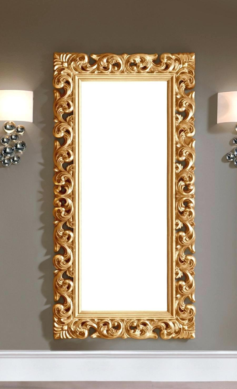 Large Gold Mirror – Amlvideo In Ornate Gold Mirrors (View 6 of 20)