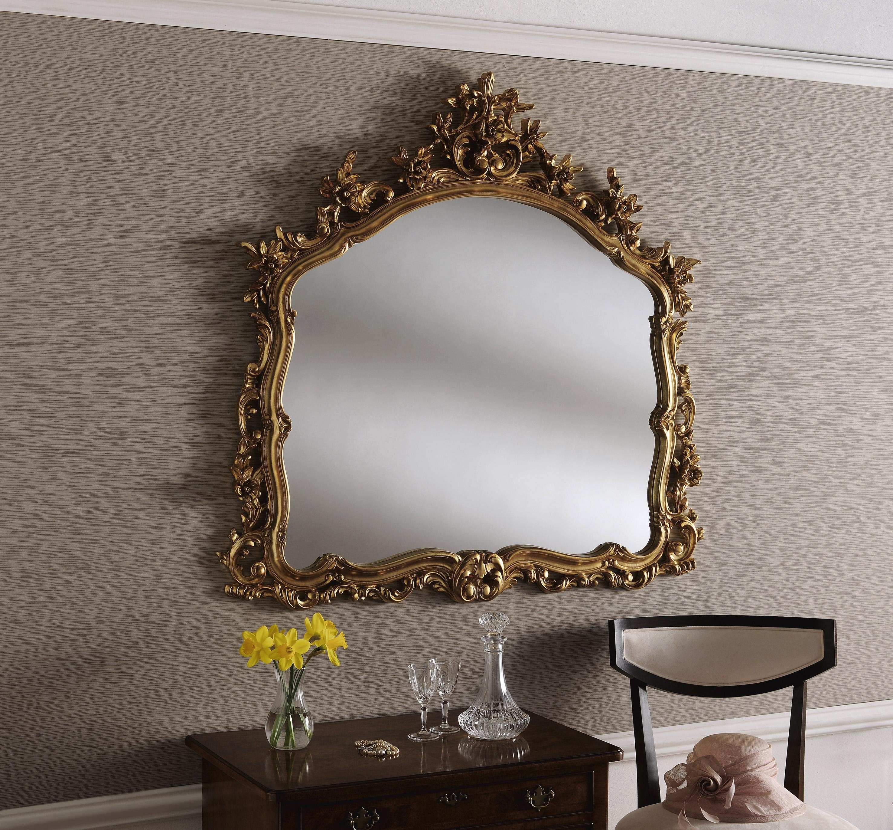 Large Gold Mirror (Image 10 of 20)