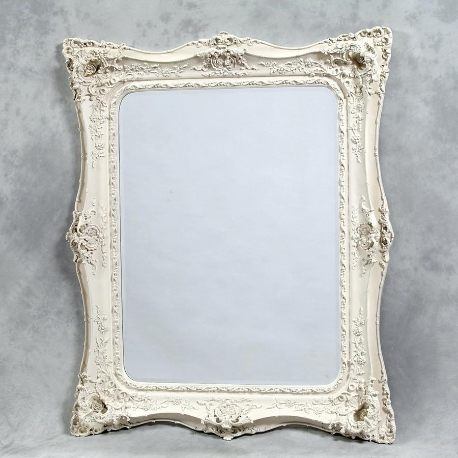 Large Green Mirror Mint Ornate Shabby Chic Cottage Big Mirrorlarge For Cream Shabby Chic Mirror (Image 12 of 20)