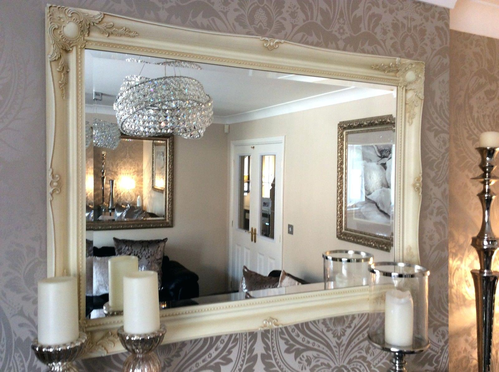 Large Green Mirror Mint Ornate Shabby Chic Cottage Big Mirrorlarge With Large Shabby Chic Mirrors (Image 8 of 20)