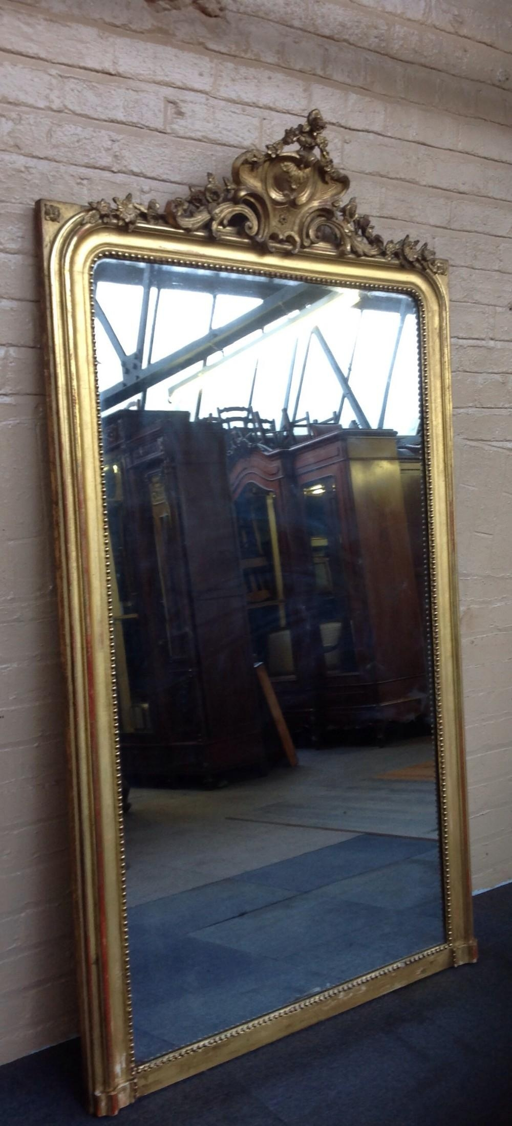 Large Guilt French Wall Mirror   258781   Sellingantiques.co (View 17 of 20)