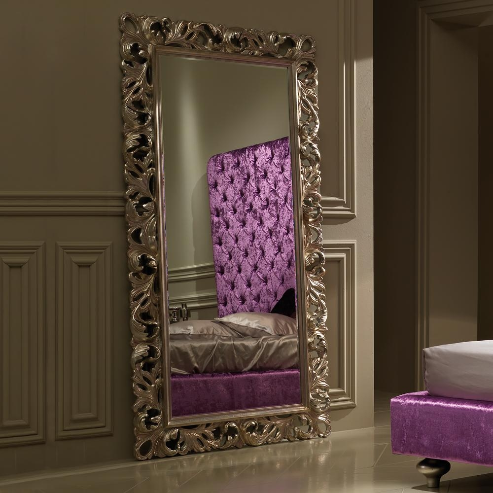 Large Luxury Italian Rococo Champagne Leaf Mirror | Juliettes With Regard To Champagne Mirror (Image 11 of 20)