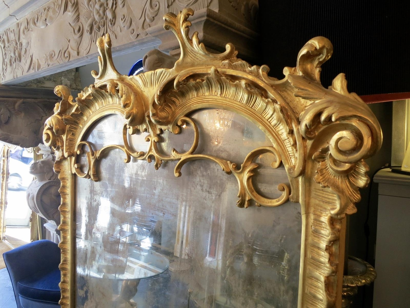 Large Neo Baroque Mirror For Sale At Pamono Pertaining To Large Baroque Mirror (Image 17 of 20)