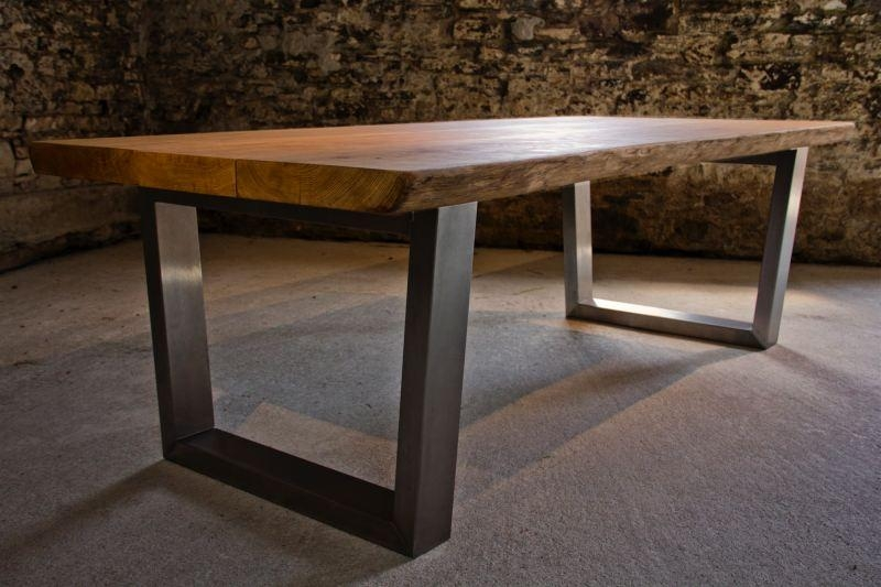 Large Oak Dining Table Selection | Tarzan Tables Pertaining To Dining Tables With Large Legs (Image 15 of 20)