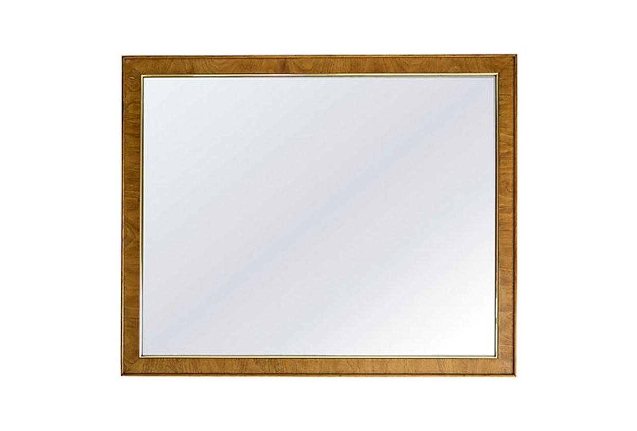 Large Oak Mirror With Gold Trim – Janney's Collection Inside Large Oak Mirrors (Image 7 of 20)