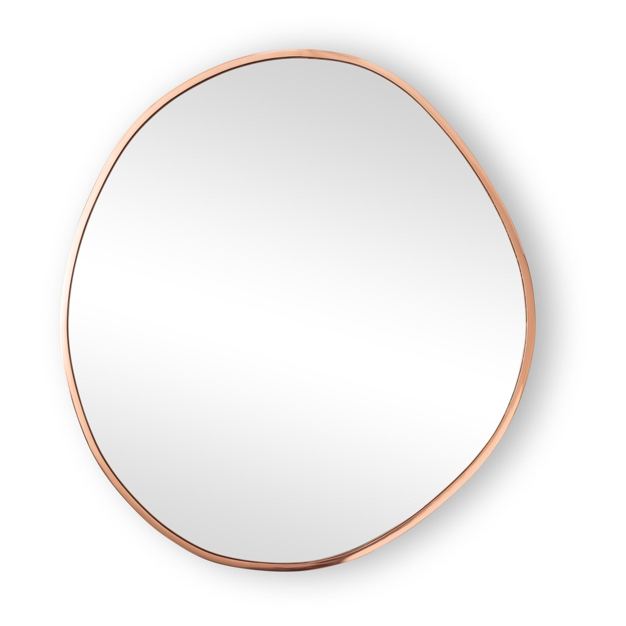 Large Rose Gold Pebble Wall Mirror | Oliver Bonas Inside Large Round Gold Mirror (Image 8 of 20)