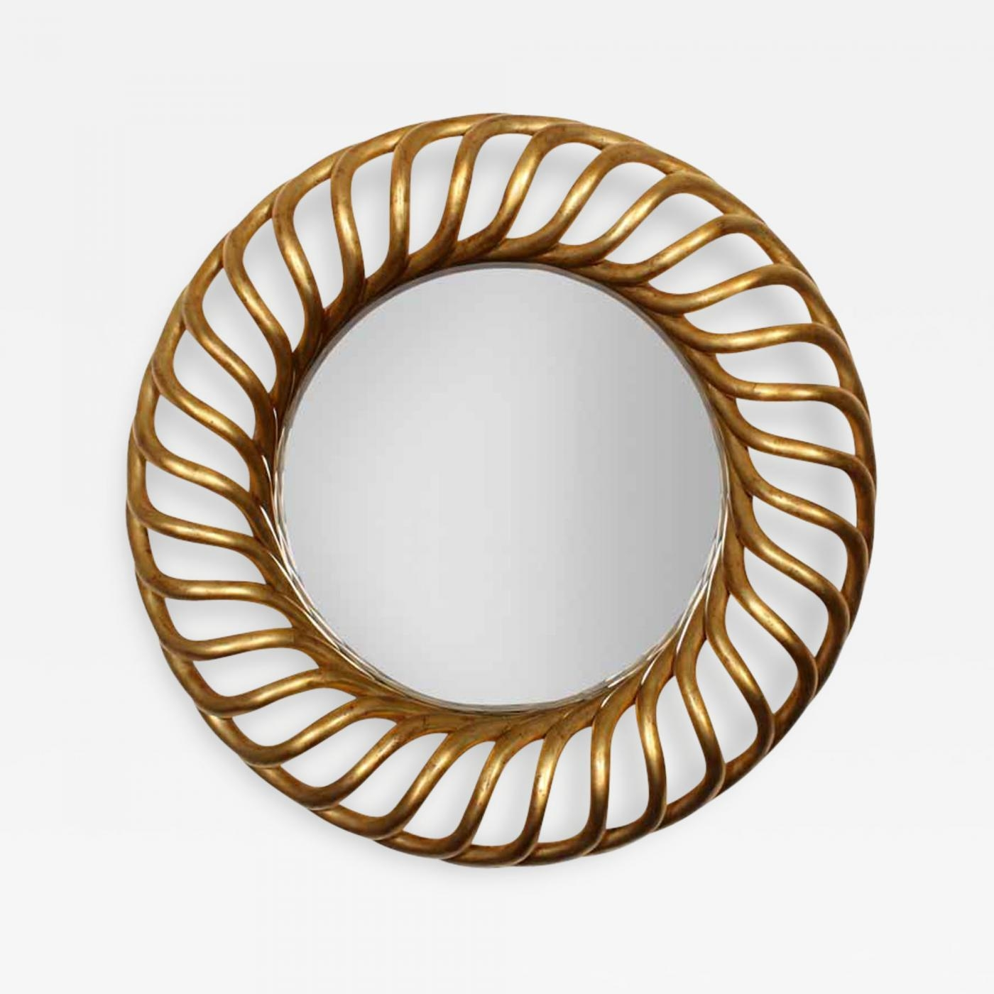 Large Round Gold Gilt Mirror For Round Gilt Mirror (View 8 of 20)