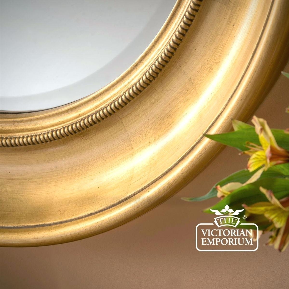 Large Round Gold Mirror – Shopwiz Intended For Extra Large Gold Mirror (Image 15 of 20)