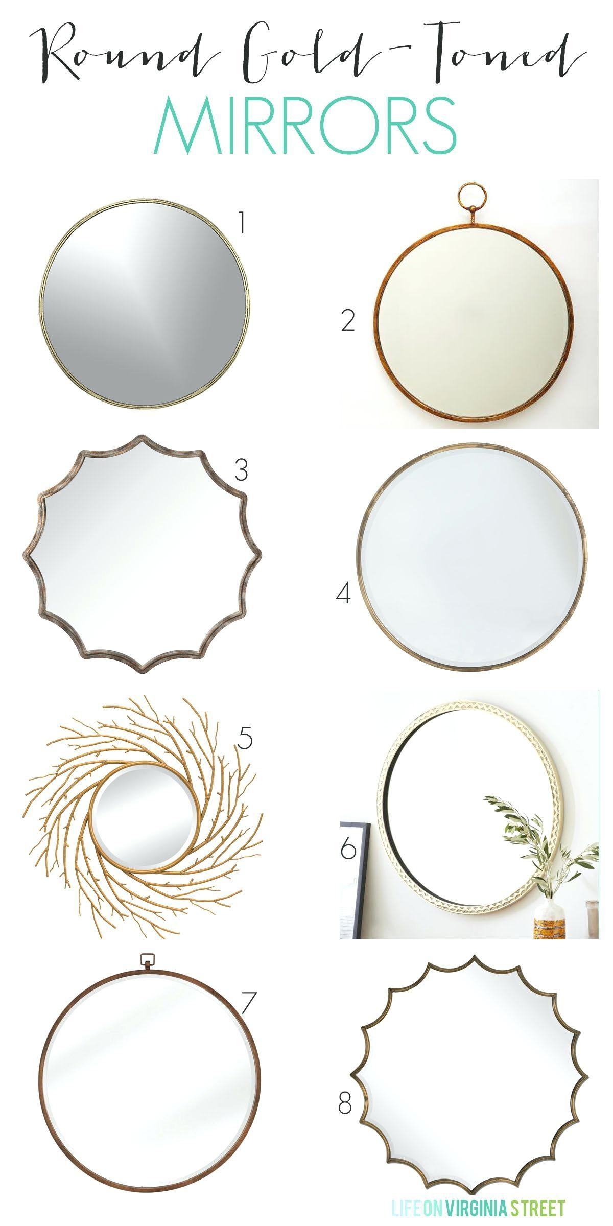 Large Round Gold Mirror – Shopwiz With Large Round Gold Mirror (Image 9 of 20)