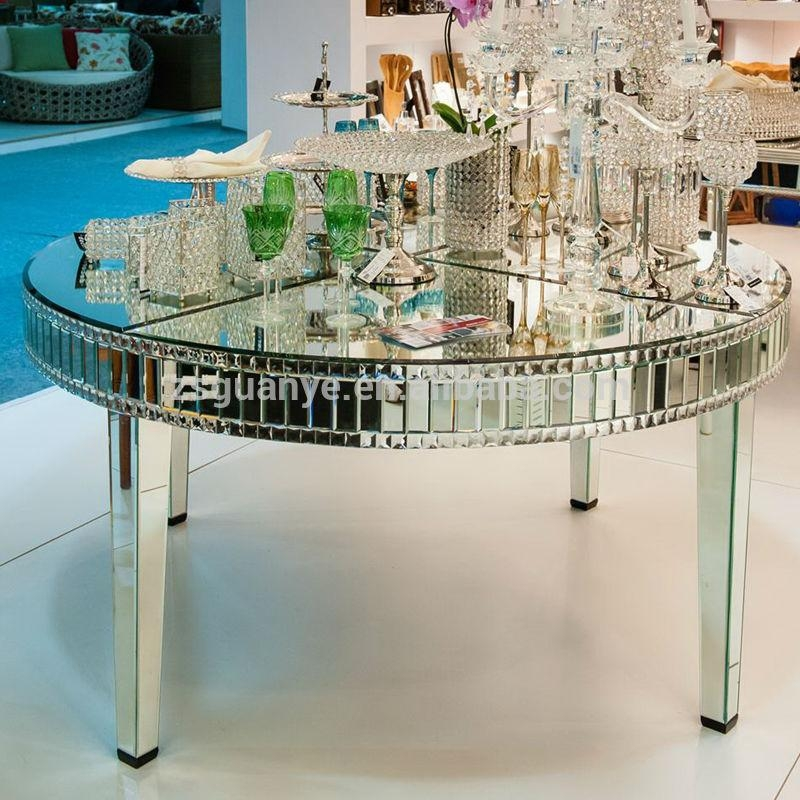 Large Round Mirror Dining Table – Buy Modern Mirror Dining Tables In Mirror Glass Dining Tables (Image 13 of 20)