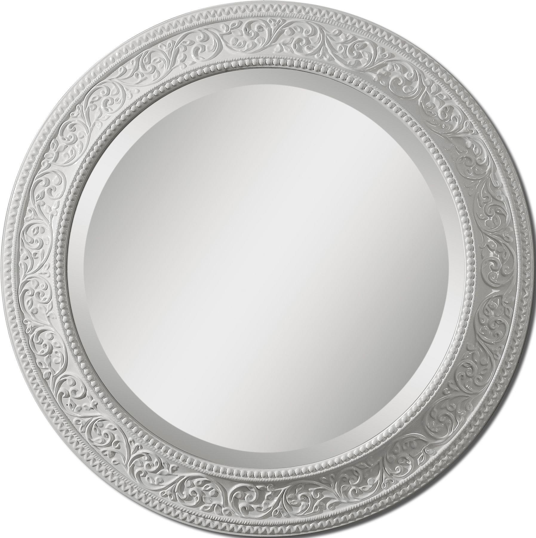 Large Round Mirror.  (Image 7 of 20)