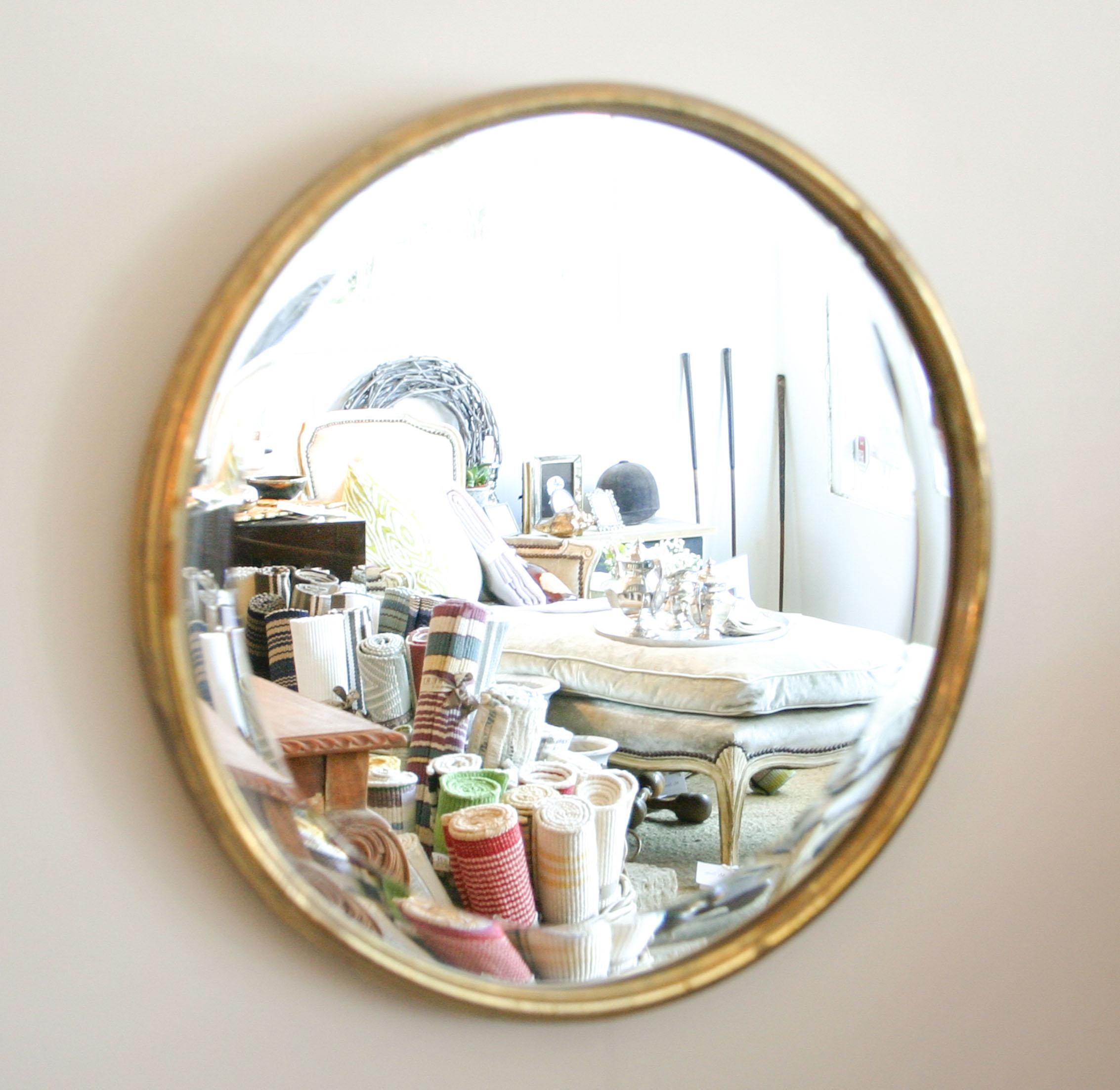 Large Round Mirror.  (Image 12 of 20)