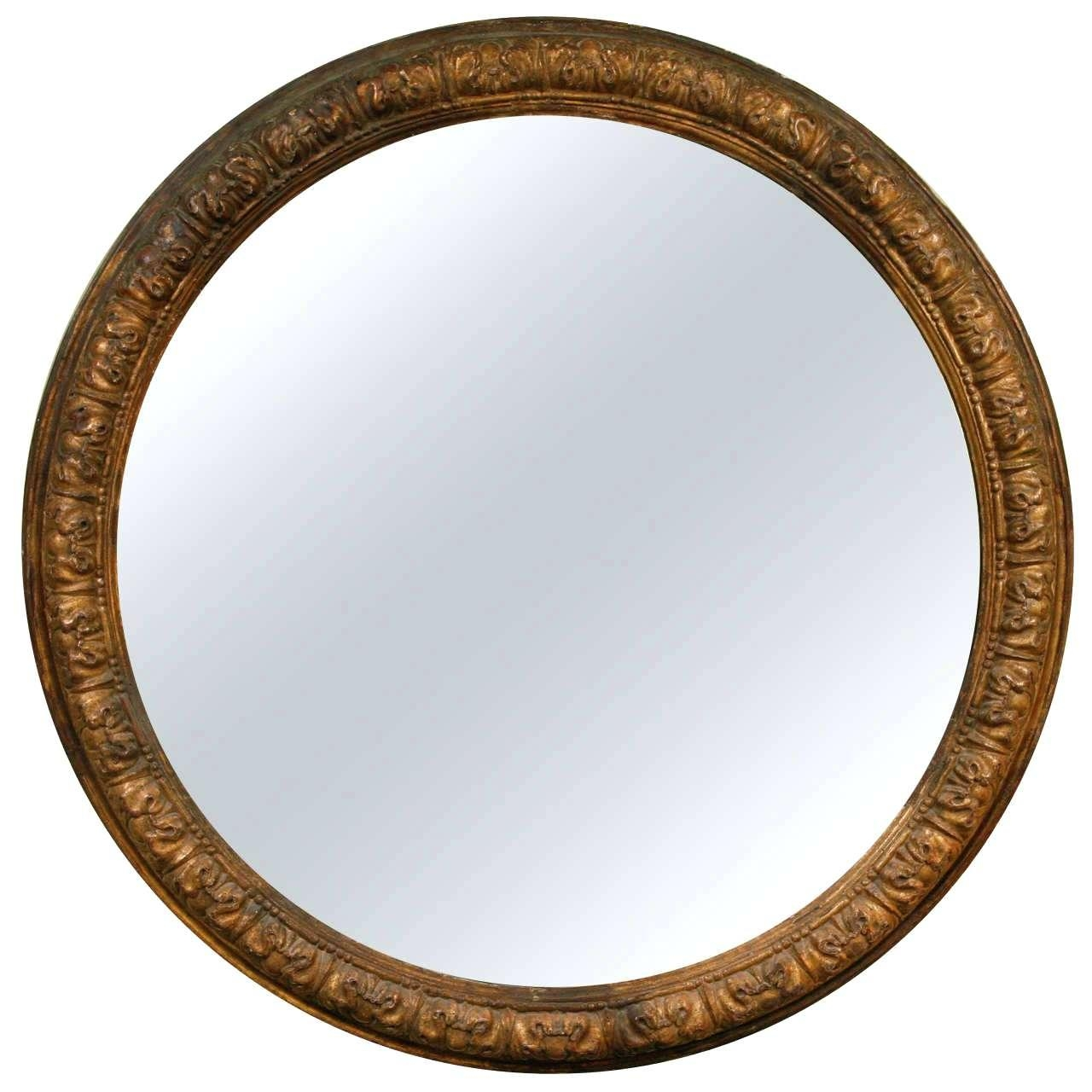 Large Round Mirror – Shopwiz Intended For Large Round Black Mirror (Image 9 of 20)