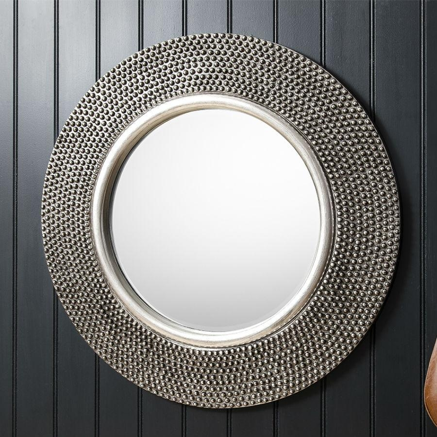 Large Round Silver Mirror 55 Trendy Interior Or Pewter Circular Pertaining To Large Pewter Mirror (Image 15 of 20)