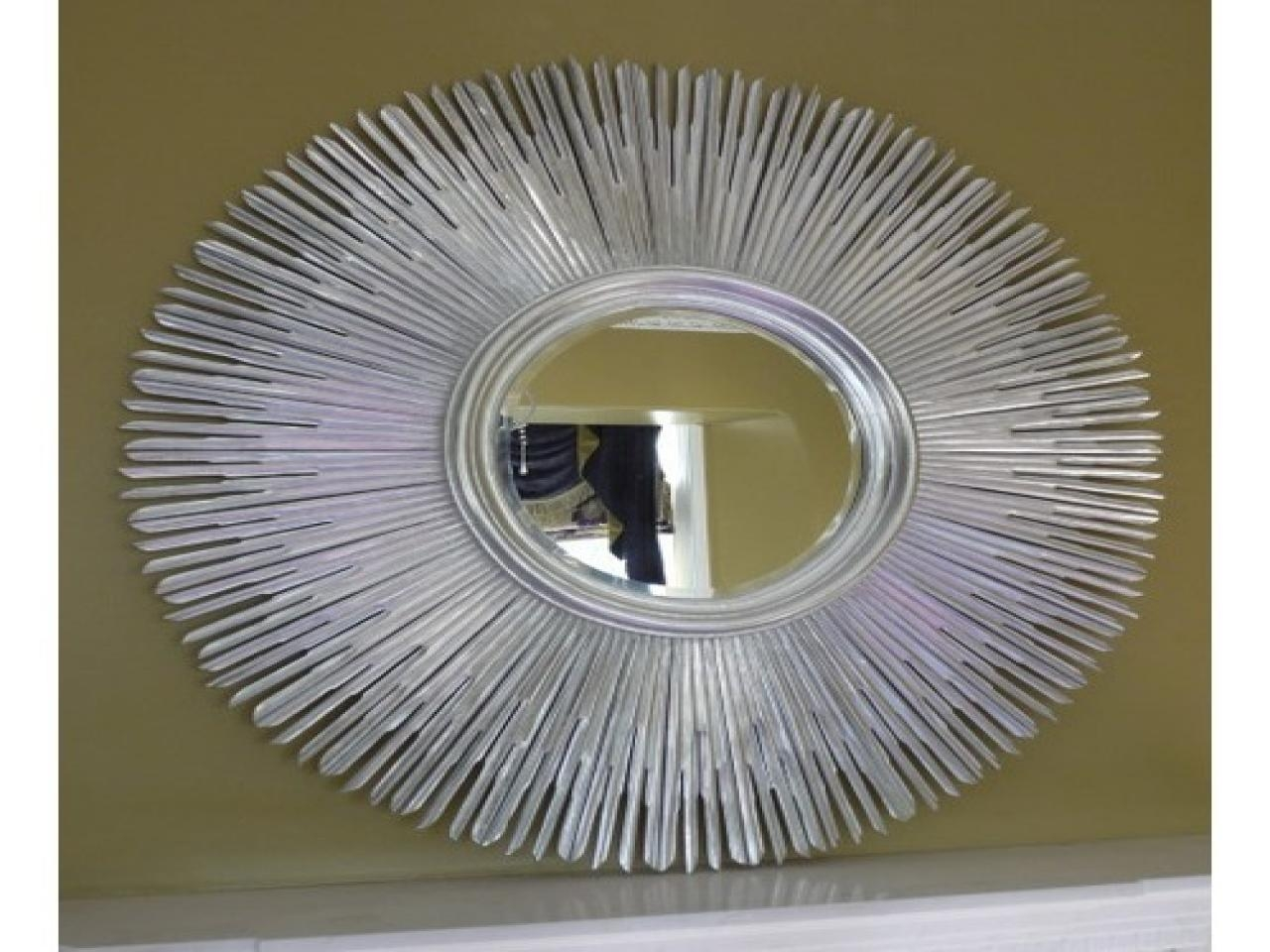 Featured Image of Large Round Silver Mirror