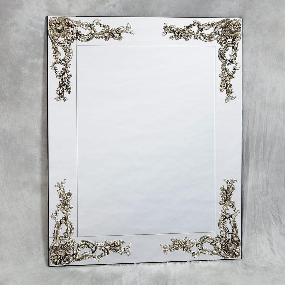 Large Round Silver Venetian Aztec Mirror Throughout Large Venetian Mirrors (Image 10 of 20)