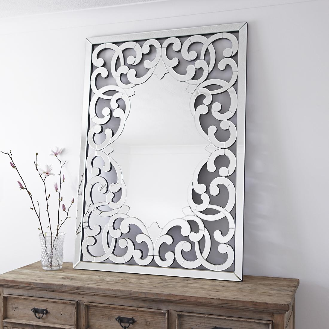 Large Venetian Fleur De Lis Wall Mirror – Primrose & Plum Intended For Venetian Style Mirrors (View 13 of 20)