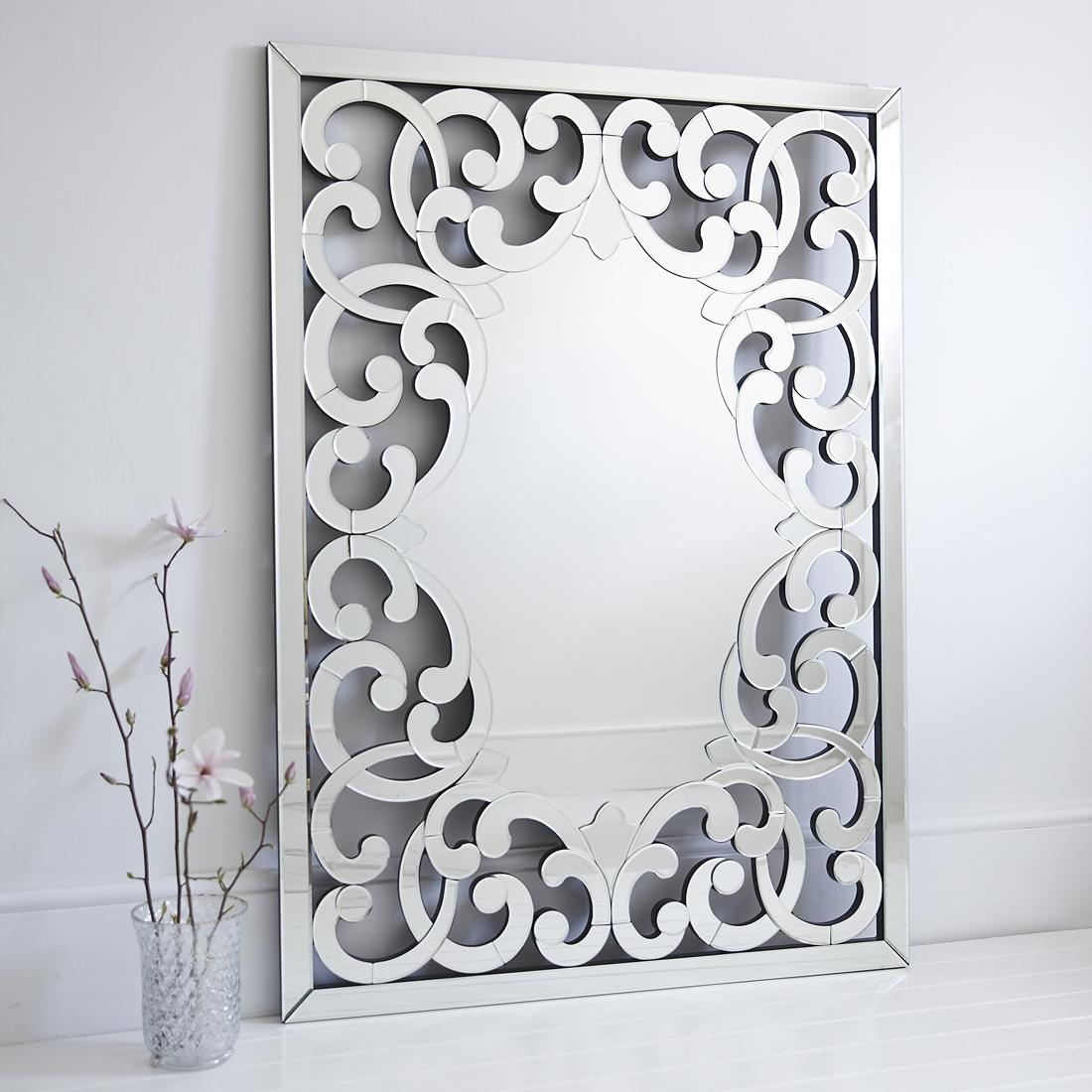 Large Venetian Fleur De Lis Wall Mirror – Primrose & Plum With Regard To Venetian Style Mirrors (View 20 of 20)