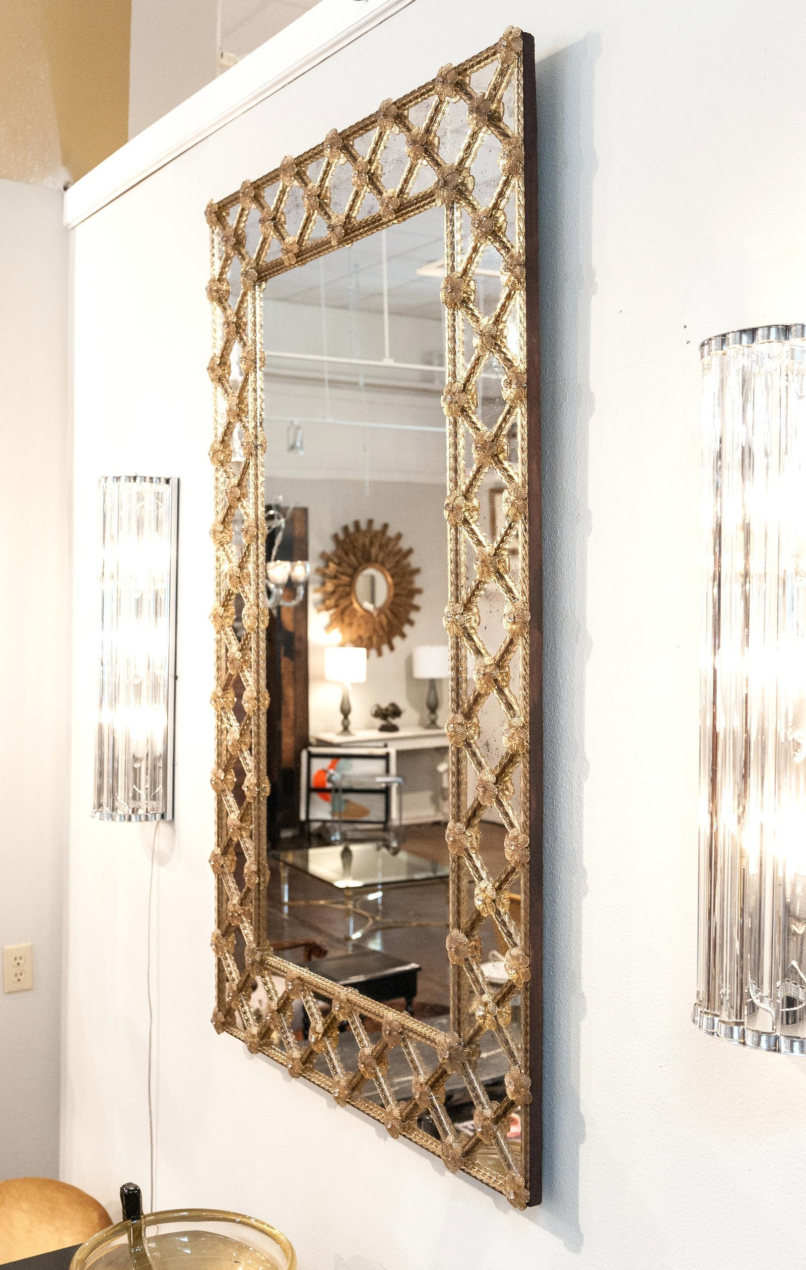 Large Venetian Wall Mirror Mirrors Sale – Shopwiz Intended For Large Venetian Wall Mirror (Image 14 of 20)