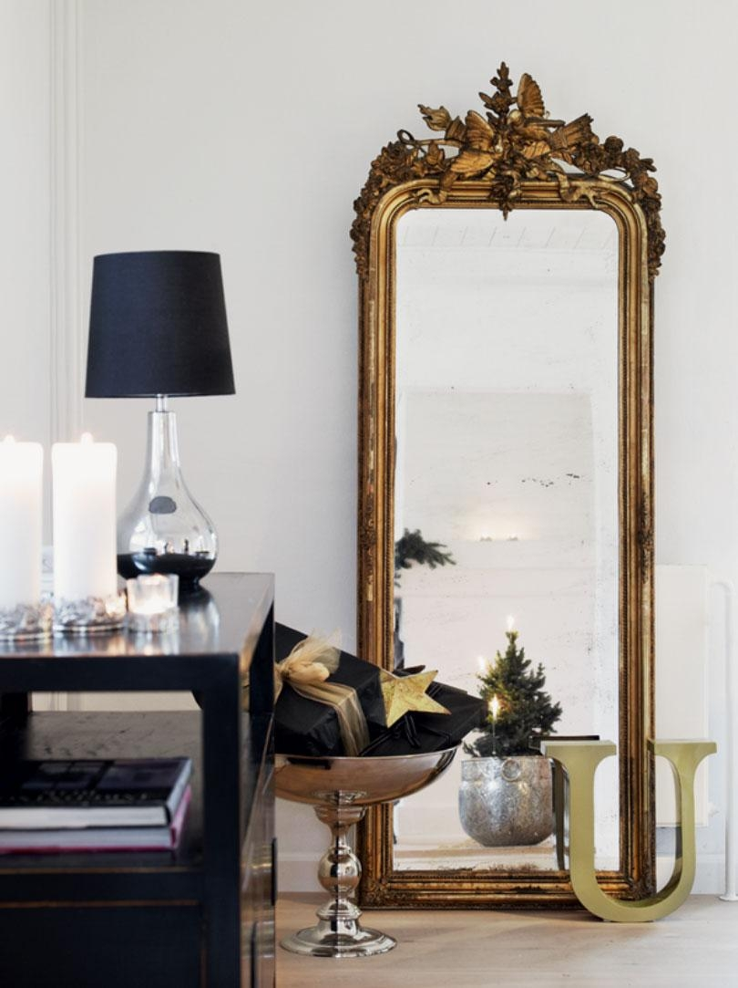 Large Wall Mirror With Frame 97 Cute Interior And Cool Black Table Intended For Large Black Vintage Mirror (Image 11 of 20)