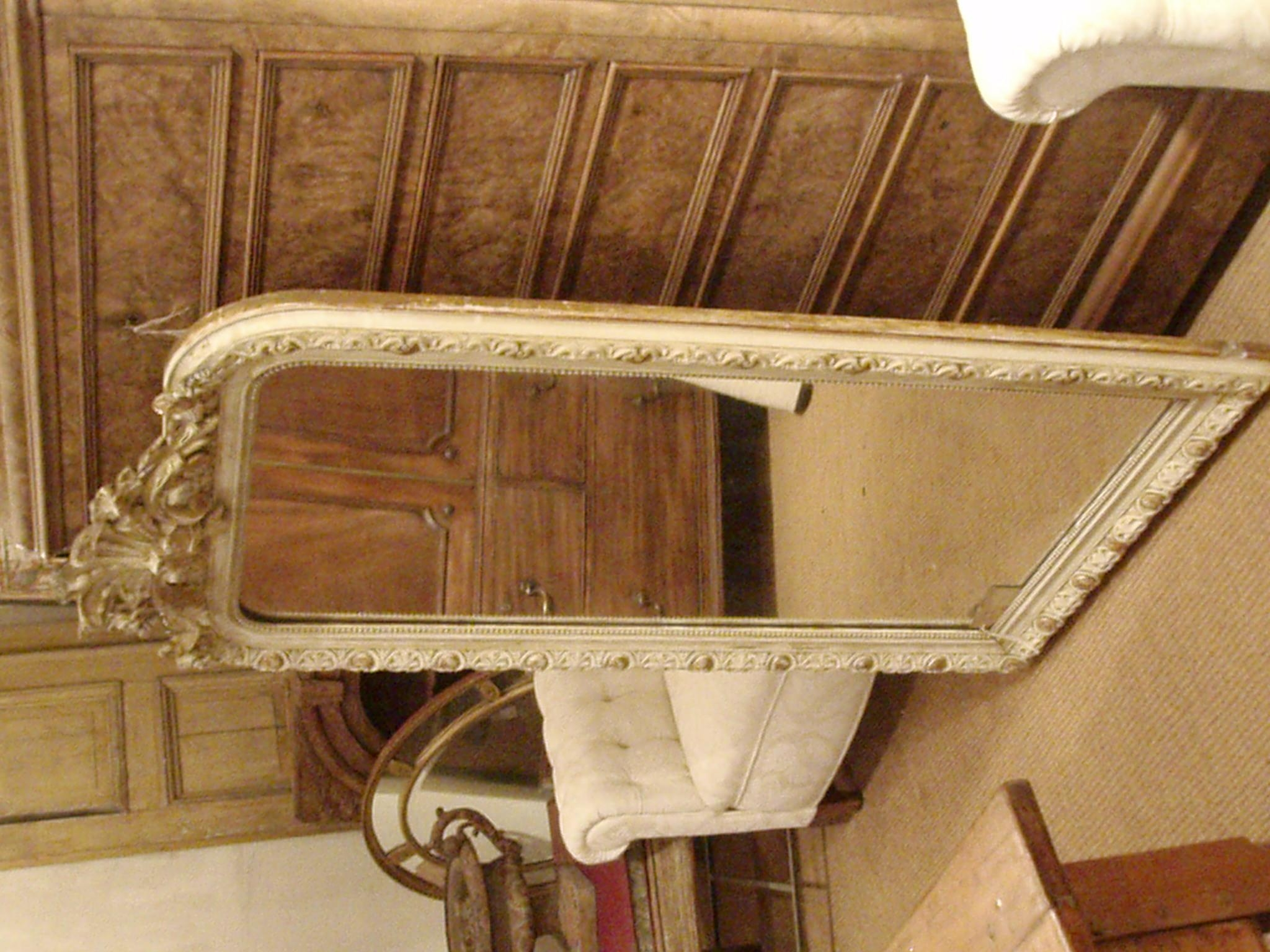 Large White And Gilt Distressed French Mirror – Gilli Hanna With Regard To Large White French Mirror (Image 11 of 20)