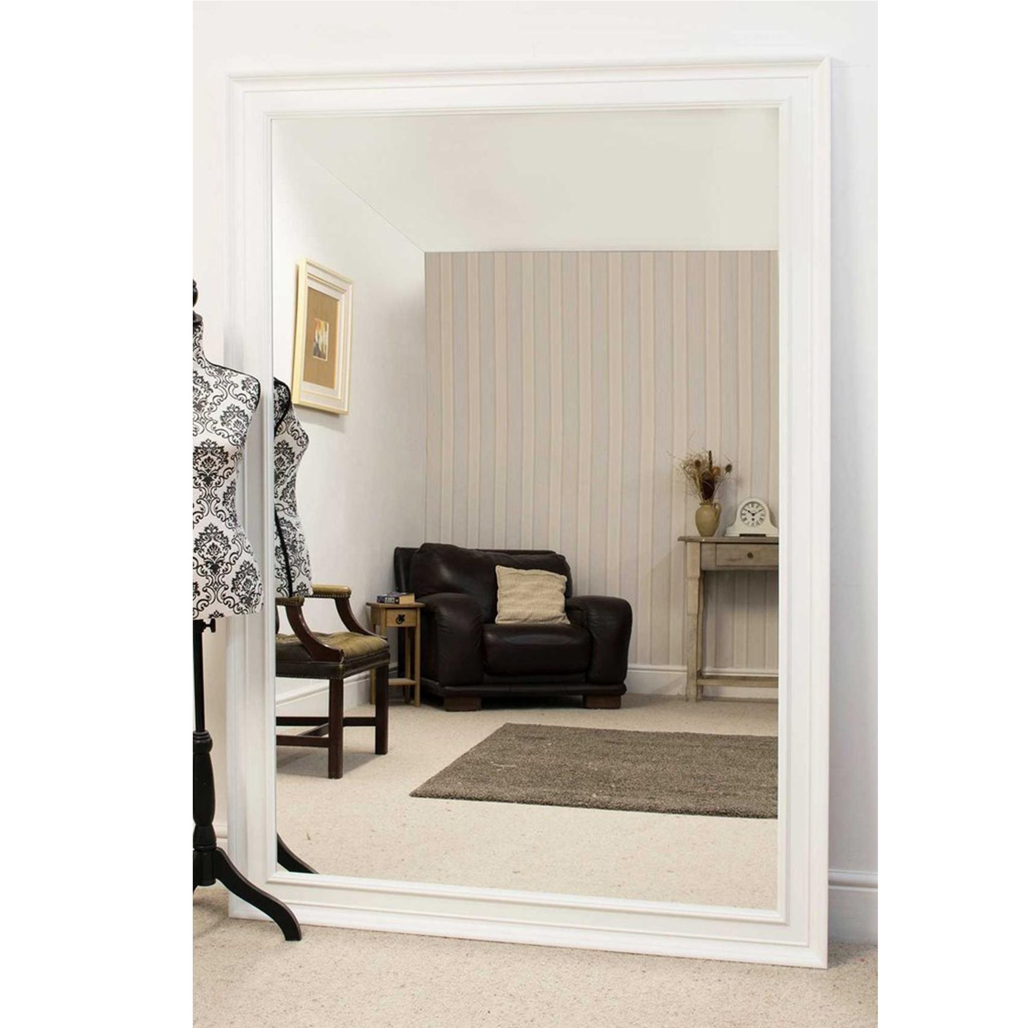 Large White Antique French Style Mirror | Ornate White Mirrors With Regard To French Style Wall Mirror (Image 19 of 20)