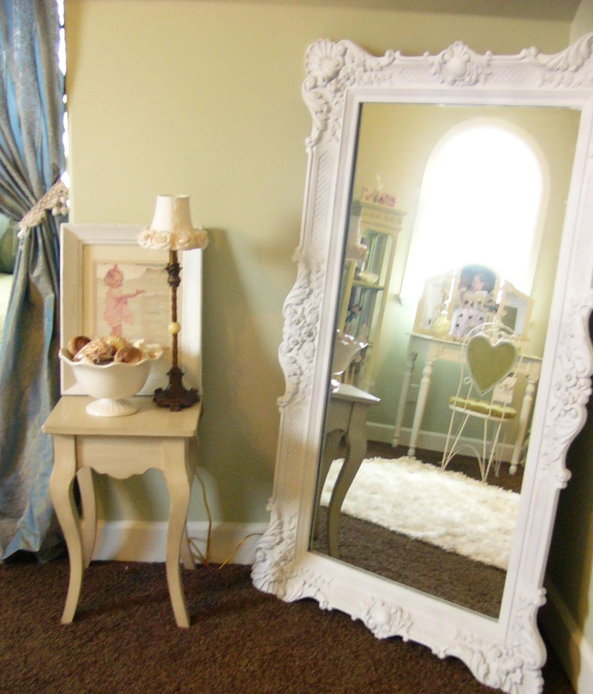 Large White Mirror On The Hunt Throughout Shabby Chic White Mirrors (Image 9 of 20)