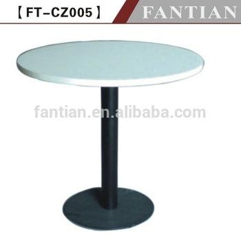 Lastest Style White Melamine Dining Table With Metal Base/ Wrought With White Melamine Dining Tables (View 17 of 20)