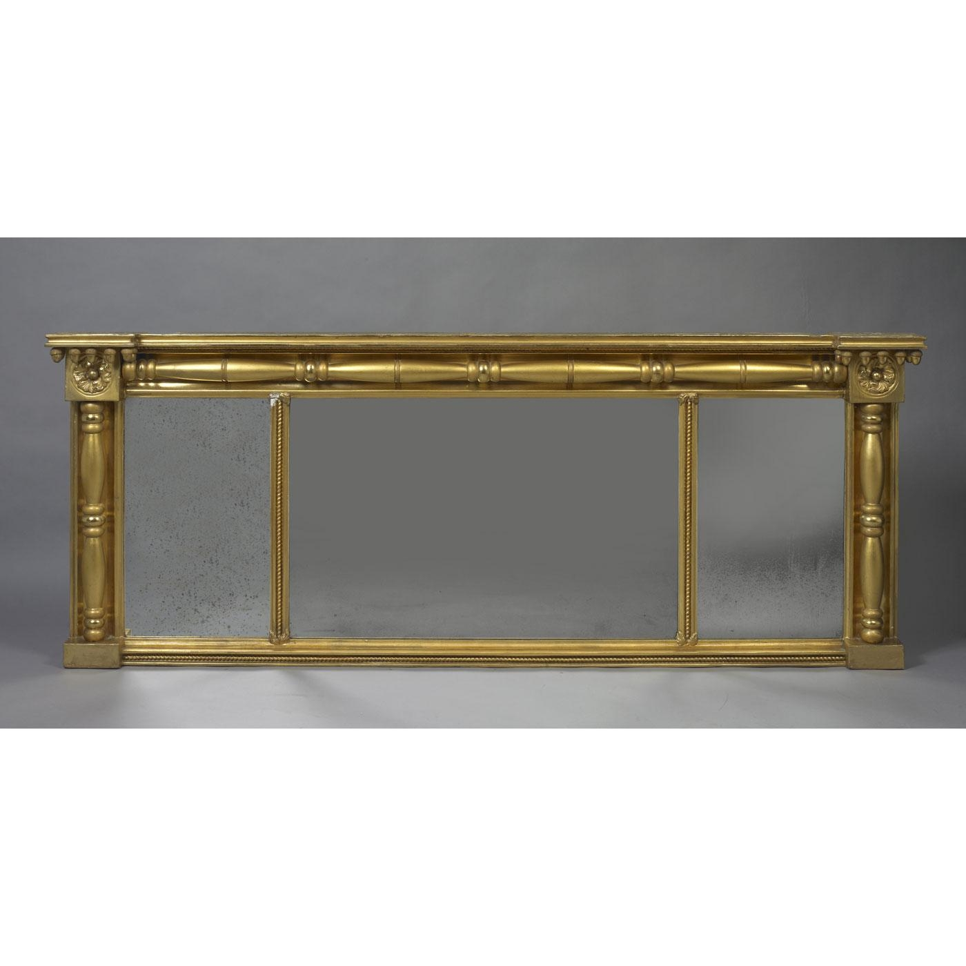 Late Federal Over Mantle Mirror – Jeffrey Tillou Antiques Inside Mantle Mirror (View 7 of 20)